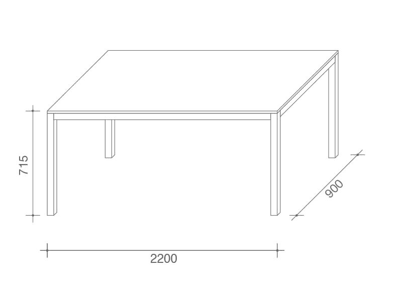 220x90cm