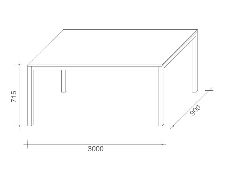300x90cm