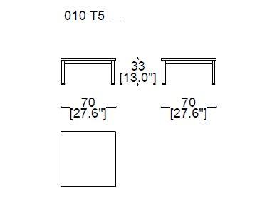 Smaller 70x70xH33 cm