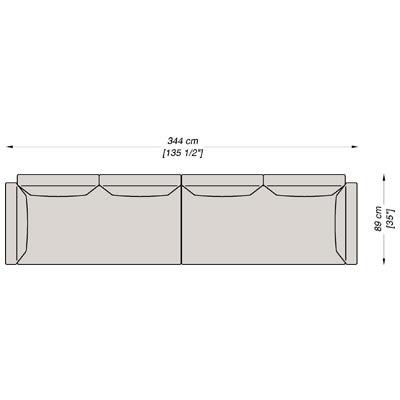 Configurazione 1 - 344x89 cm