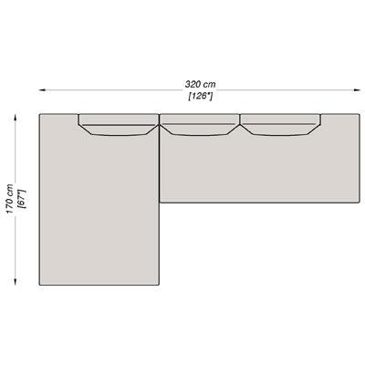 Configurazione 2 - 320x170 cm