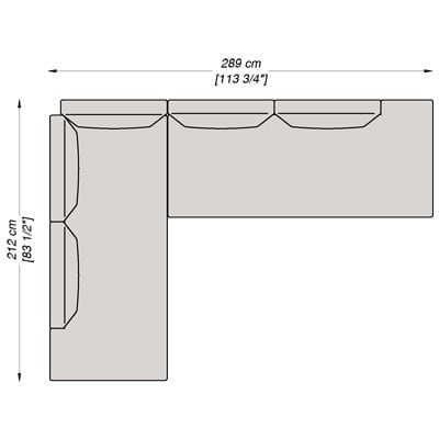 Configurazione 3 - 289x212 cm