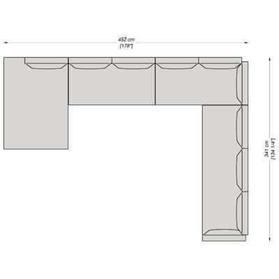 Configurazione 4 - 452x341 cm