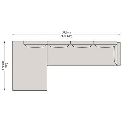 Configurazione 5 - 372x170 cm