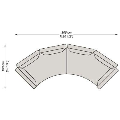 Configurazione 7 - 306x133 cm