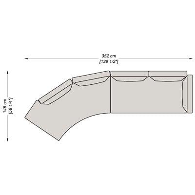 Configurazione 8 - 352x148 cm