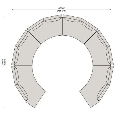 Configurazione 10 - 420x394 cm