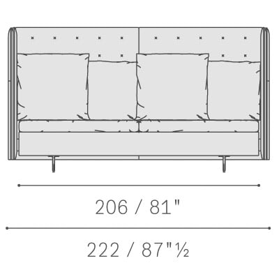 Two seater large sofa