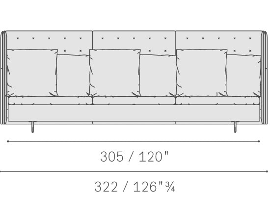 Three seater large sofa