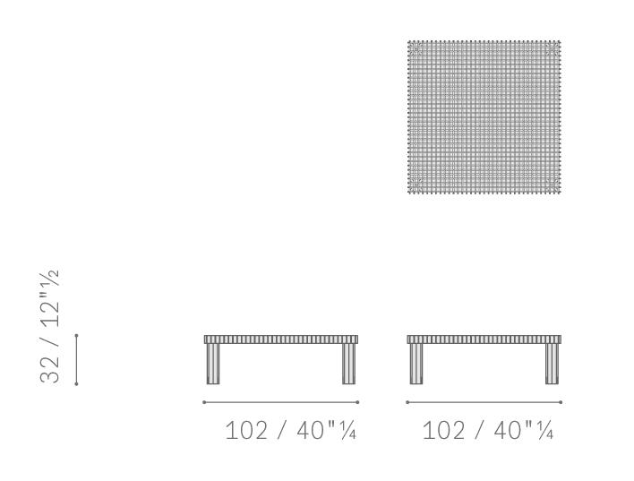 square 102x102cm