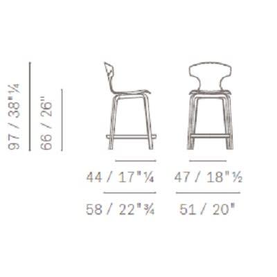 h 66 cm - wooden legs