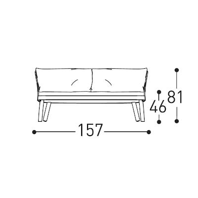 2 Seater (157cm)