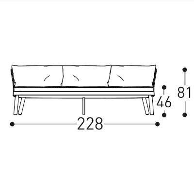 3 Seater (228cm)