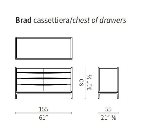 8 cassetti - 155 cm