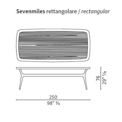 Rectangular 250 cm