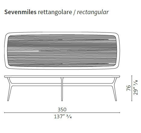 Rectangular 350 cm