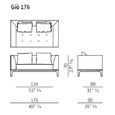 Sofa 176 cm