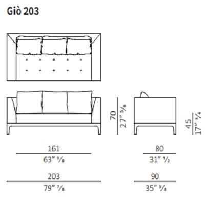 Sofa 203 cm