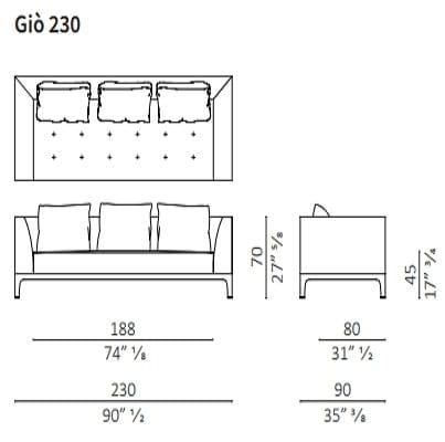 Sofa 230 cm