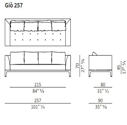 Sofa 257 cm