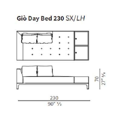 Day Bed 230 cm LH