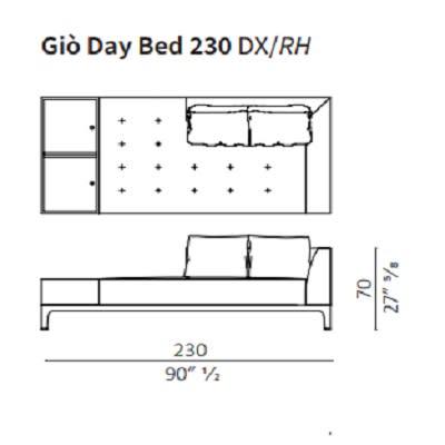 Day Bed 230 cm RH