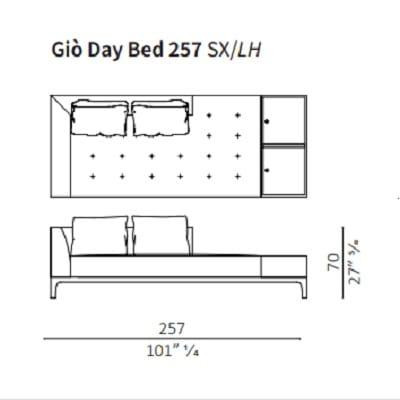 Day Bed 257 cm LH