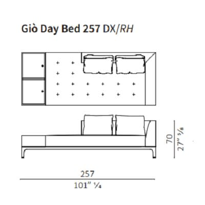 Day Bed 257 cm RH