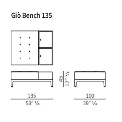 Bench 135 cm