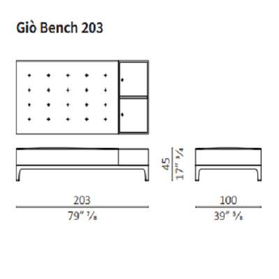 Bench 203 cm