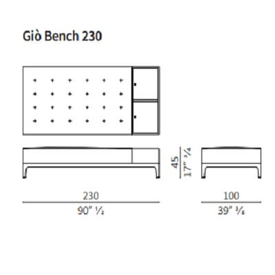 Bench 230 cm