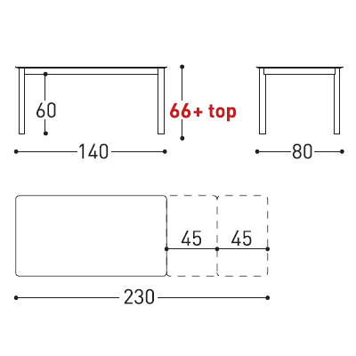 230x80cm