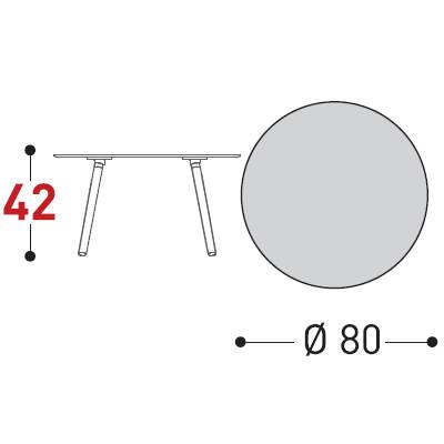 80xh.42cm
