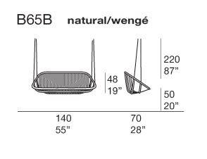 B65B natural/wengè