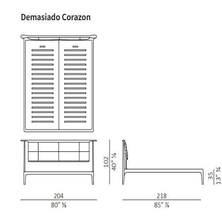 Demasiado Corazon normal 204x218 cm