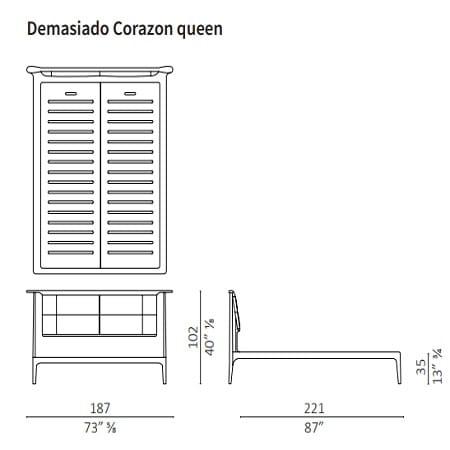 Demasiado Corazon Queen 187x221 cm