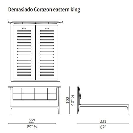 Demasiado Corazon Eastern King 227x221 cm