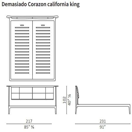 Demasiado Corazon California King 217x231 cm