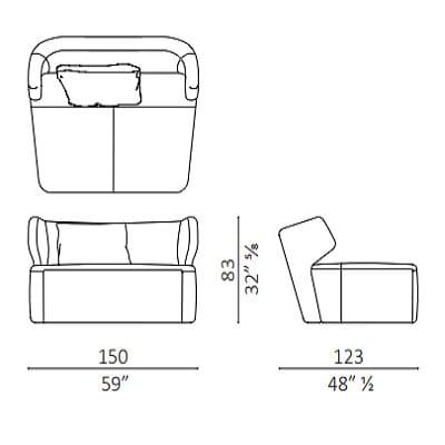 Armchair 150 cm