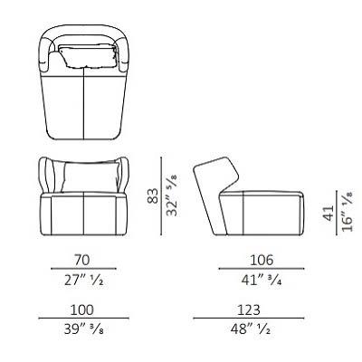 Armchair 100 cm