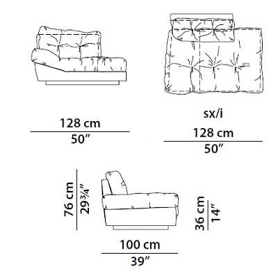 Left armchair