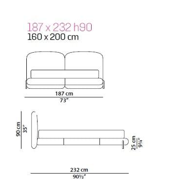 Baxter Stone bed 160x200 cm