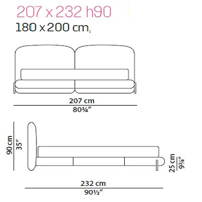 Baxter Stone bed 180x200 cm