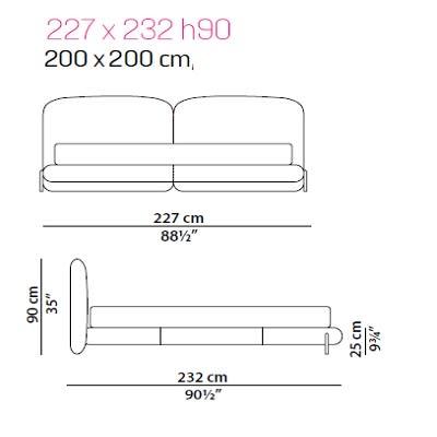 Baxter Stone bed 200x200 cm