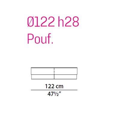 Pouf 122 cm
