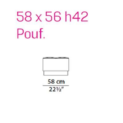 Pouf 58 cm