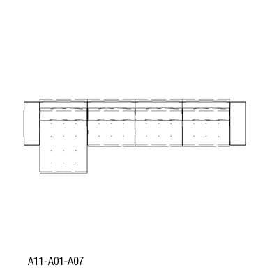 Angular 464 x 170 cm