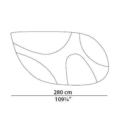280cm
