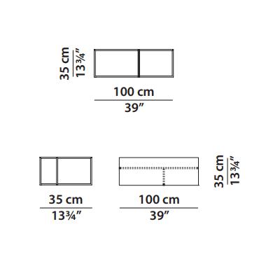 100x35cm