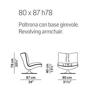 Revolving armchair